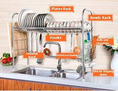 [Coolbe]Stainless Steel 304 Dish Drying Rack Storage for Plates Bowls Knife Chopsticks Utensil  sc 1 st  Qoo10 & Qoo10 - Dish Storage Rack : Kitchen u0026 Dining
