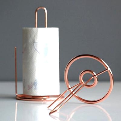 Attractive Copper Wire Paper Towel Holder/Kitchen/ Rose Gold/ Tissue Paper/ Bathroom