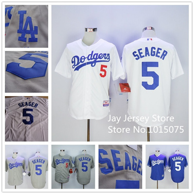 reputable site 27e0b 11081 Corey Seager Jersey Home Away White Grey Blue Los Angeles Dodgers