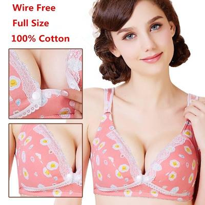 2ef8d93ce1 Qoo10 - Cotton Breast Feeding Maternity Bra Nursing Bra Padded Push Up  Pregnan...   Baby   Maternity