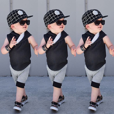 2ab7d8485 Qoo10 - Cotton Cute Kid Baby Boys Vest Tops+Pants Shorts Outfits ...