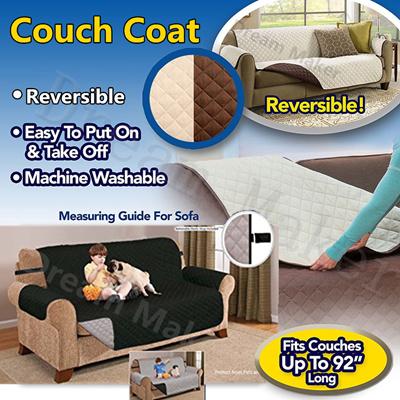 Qoo10 Couch Coat Convenient Reversible Sofa Cover Pet
