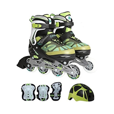 cf5b46ba937 Cougar MZS733 Speedster Kids Inline Skates and Gear Combo (Multiple Size  and Color Options Available