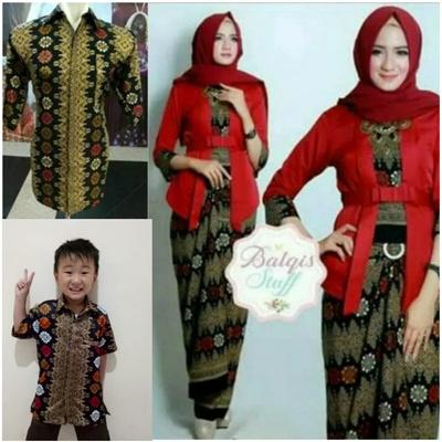 Qoo10 - Couple Family Lovena Stelan Father Son's Kebaya Blouse And Batik S... : Women's Clothing