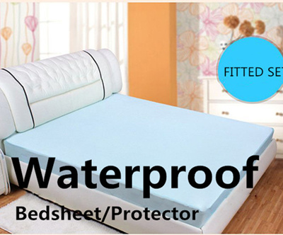 Awesome 100% Cotton Waterproof Bedsheet / Waterproof Mattress Protector