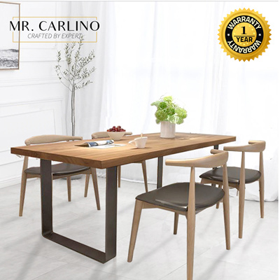 Coupon Friendlyburke 5cm Thick Solid Rubber Wood Dining Table Sets Study Table Office Table 180 80cm