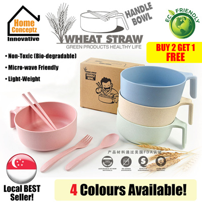Qoo10 wheat straw bowl kitchen dining for Eco friendly kitchen products