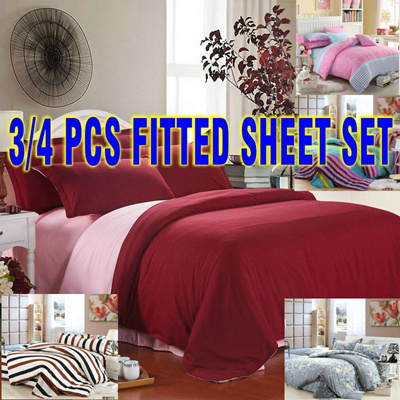 FITTED SHEETS SET(40 Designs) Bedsheet/Quilt Cover/Bed Sheet/Pillowcase