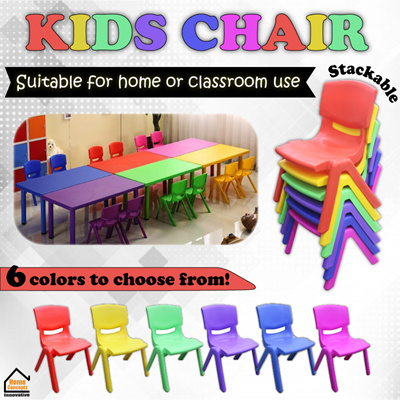 Kids Chair ☆ Available In【6 Colors】  Pink Red Purple Blue Green