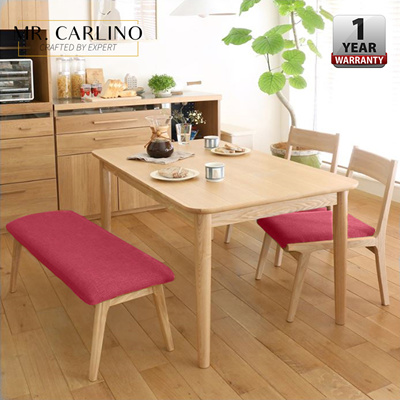 Coupon Friendlyoisin Alma Anese Style Solid Rubber Wood Dining Table With Chairs And Bench