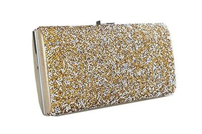 11cc907b85 Covelin Women s Handbag Envelope Rhinestone Evening Clutch Bag Hot Golden
