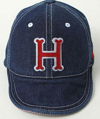 ae6c519d858 Qoo10 - Cowboy Baby Hat Letter H Solid Baseball Cap Girls Boys Infant Cotton  C...   Kids Fashion