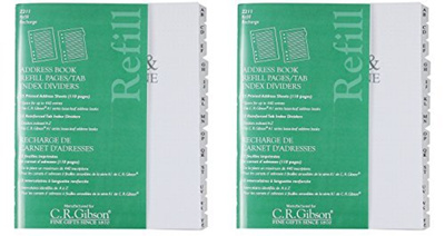 qoo10 cr gibson c r gibson address book refill pages with tab