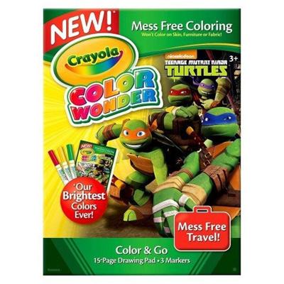 CRAYOLACrayola Color Wonder Mini Pad Markers - Teenage Mutant Ninja Turtles