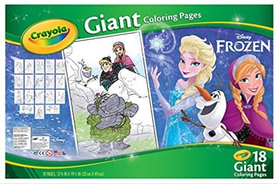 qoo10 crayola frozen giant coloring pages b00m4kgqw0 toys