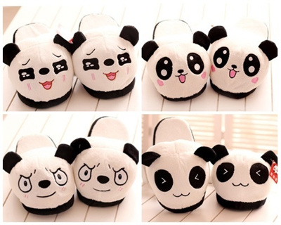 a5905383c91c Qoo10 - Panda Bedrm slipper   Shoes