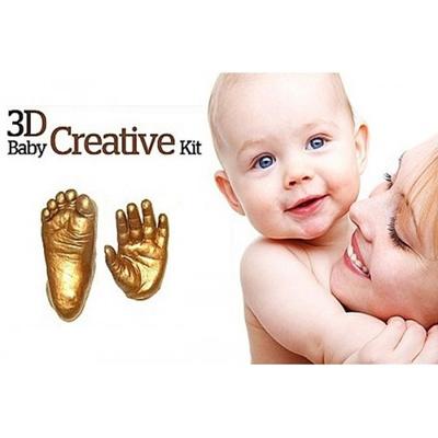 Qoo10 - Creative DIY 3D Baby Hand Footprint Kit With Photo Frame ...