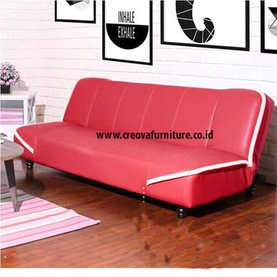 Qoo10 Creova Sofabed Laguna Merah Hitam Furniture Dekorasi