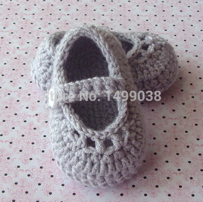 Qoo10 Crochet Baby Girl Shoes Baby Mary Jane Shoes Crochet