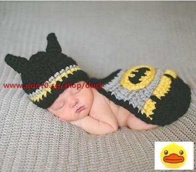 Qoo10 - Crochet Newborn Baby Batman Superhero Hat Mask   Cape Costume  Photogra...   Fashion Accessor. e970402e4b8