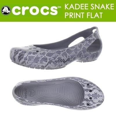 9096f698de05cc Qoo10 - crocs Women s Kadee Snake Print Flat   Shoes