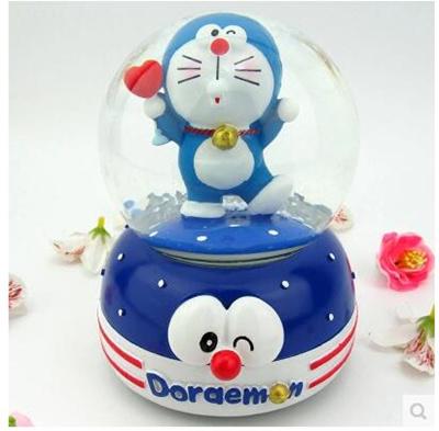 Qoo10 - Crystal ball music box girl Doraemon dancing sky city rotating with sn... : Bag & Wallet