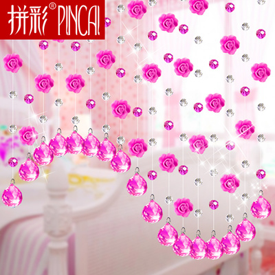 Qoo10 - Crystal bead curtain living room dividers curtain entrance ...