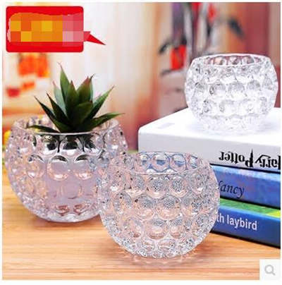 Qoo10 Crystal Glass Round Spherical Vase Crystal Ball Thick