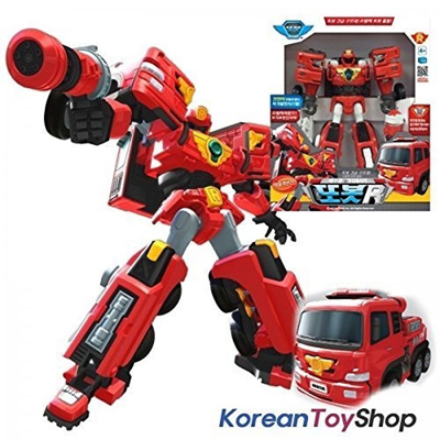 (CTU BroHall) TOBOT R Transforming Robot Transformers Toy Car Rescue Fire  Engine Truck w/ LED-