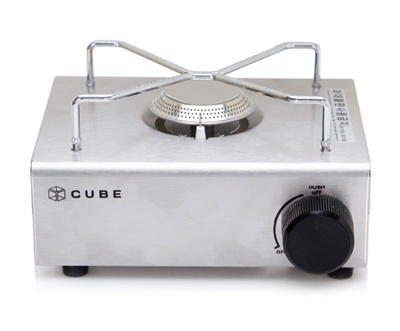 [Cube] portable gas stove / stainless steel / small size / safety / good  design / portable / gas burner / Made in Korea / / table / free shipping