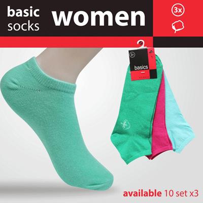 Qoo10 - Cuci Gudang! 1+1 6pcs Basic Socks Kaos Kaki Wanita Basic ... 2822a4ae8a