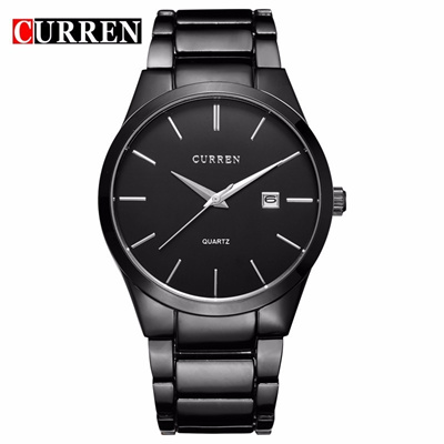 a80c85bf53c Qoo10 - CURREN Luxury Brand Full Stainless Steel Analog Display Date Mens  Quar...   Watch   Jewelry