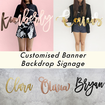 Customised Banner / Signage / Acrylic Banner Signage / Party Backdrop /  Banner