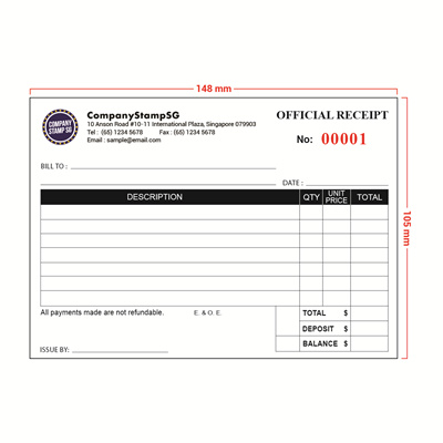 Customized A6 Receipt / Invoice Books Printing | Customize To Own Design |  20 And 40  Customize Invoice