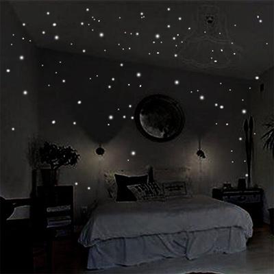 Cute 2pcs Set Room Decor Diy Kids Glow In The Dark 408 Round Dot Luminous