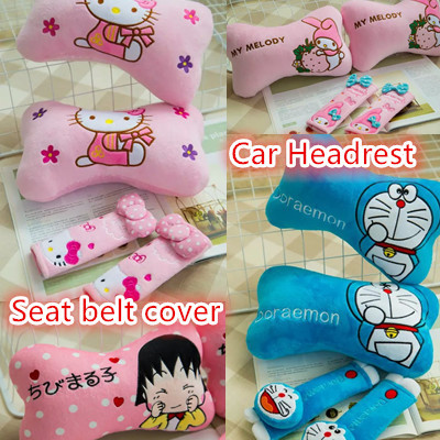 Cute Car Headrest Pillows : Qoo10 - Cute Car headrest/ head pillow /car accessories/Car seat belt cover/ h... : Automotive ...