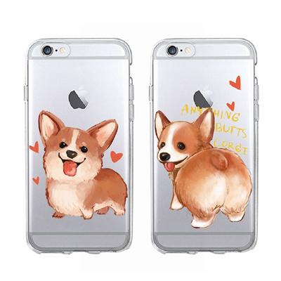 90eac7eca3 Qoo10 - Cute Cartoon Corgi Butt Couple Phone Case for iPhone 7 6 6S 8 X  Phone ... : Furniture & Deco