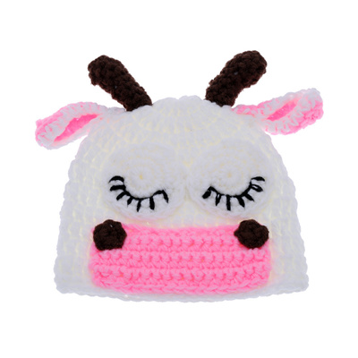 Qoo10 Cute Cow Infant Baby Soft Crochet Knit Cotton Costume Hat