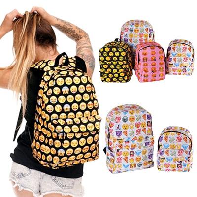 5680108aa73 Cute Emoji Backpack 1PC Casual Fashion School Backpacks Bookbag Travel  Shoulder Bag Cartoon