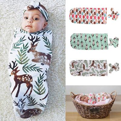 Qoo10 Cute Organic Cotton Swaddle Blanket Newborn Baby Kid Wrap