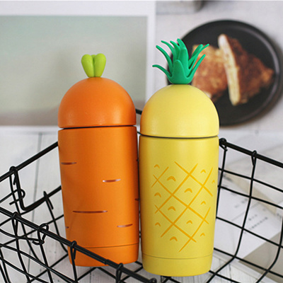b8ee55dd496 Cute Pineapple Carrot Thermal Bottle Coffee Mug Thermo Cup Thermos Flask  Vacuum Cup Travel Portable