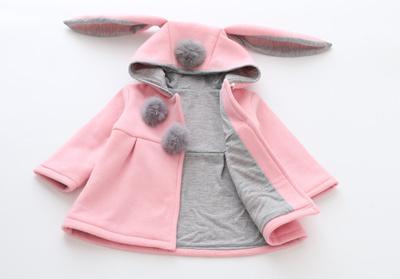 18e8a21fe Qoo10 - Cute Rabbit Ear Coats Hooded Baby Girls jackets Kids Warm ...