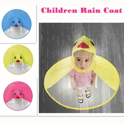 Qoo10 - Cute Rain Coat UFO Children Umbrella Hat Magical Hands Free Raincoat    Baby   Maternity 745836a034fd