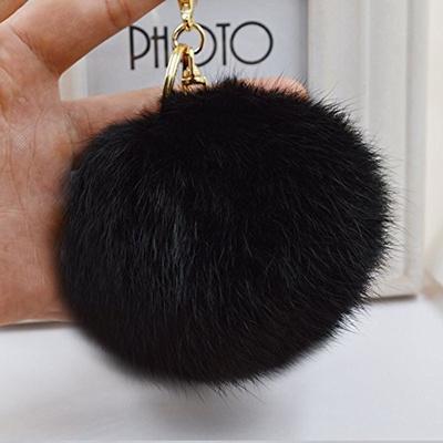 006b02d917f1 Qoo10 - Cy3Lf Gold Plated Keychain Cute Genuine Rabbit Fur Ball Pom Pom  Keycha...   Fashion Accessor.