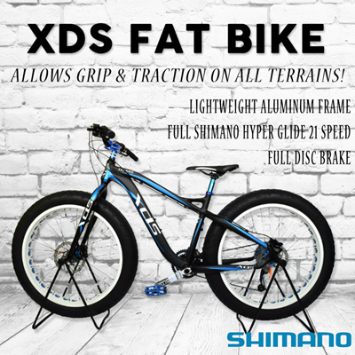 [Cycle Bicycle] XDS FAT BIKE FULL LIGHTWEIGHT ALUMINIUM Shimano/{Branded  Road Bike/Mountain Bicycle/Foldable Bike/Fixie/} Sex/Fitness/Healthy/100%