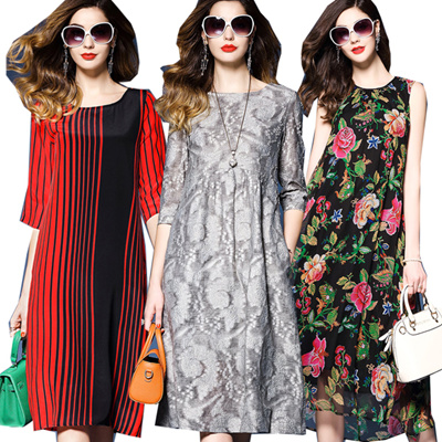 854604d10b12 2018 UK style premium silk dress plus size