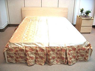 Dada Bedding Fl Botanic Bed Skirt Dust Ruffle Shiny Decorative Gold