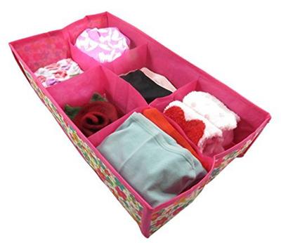 Qoo10 Daiso Foldable Storage Box Organizer With Divider Closet