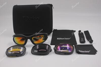 73cd0f72c0 Qoo10 - Daisy C5 Polarized Army Goggles Desert Storm 4 Lens