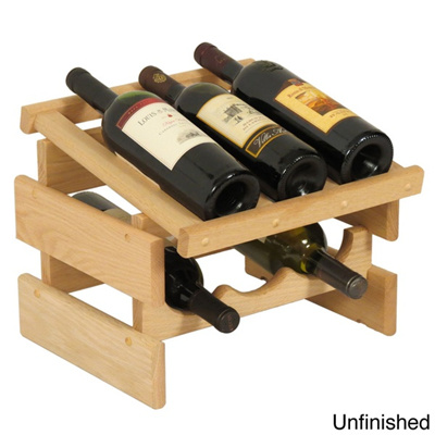 Qoo10 Dakota 6 Bottle Stackable Wood Wine Rack Kitchen Dining